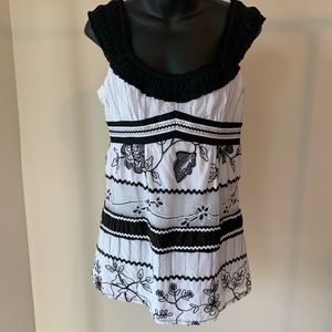 Nanette Lenore black and white top